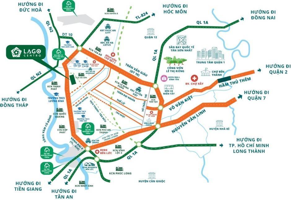 Bản đồ vị trí dự án Lago Centro