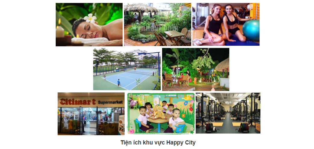 tiện ích căn hộ happy city